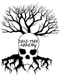 Logo design for Dead Tree Armory.