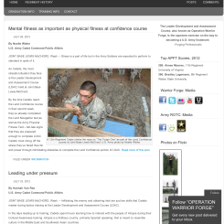 WordPress redesign of news page for the Leader Development and Assessment Course