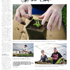 Another story on local high school students, this time learning how to run their own business through a special gardening programing.